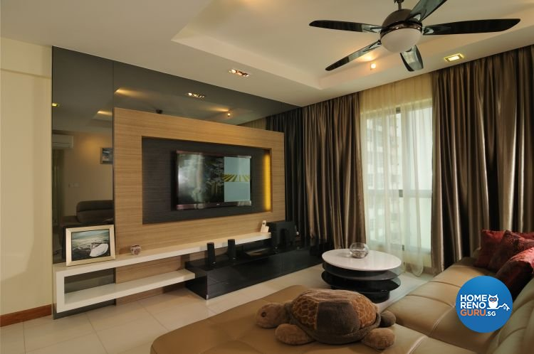 Contemporary, Tropical Design - Living Room - HDB 5 Room - Design by Y-Axis ID