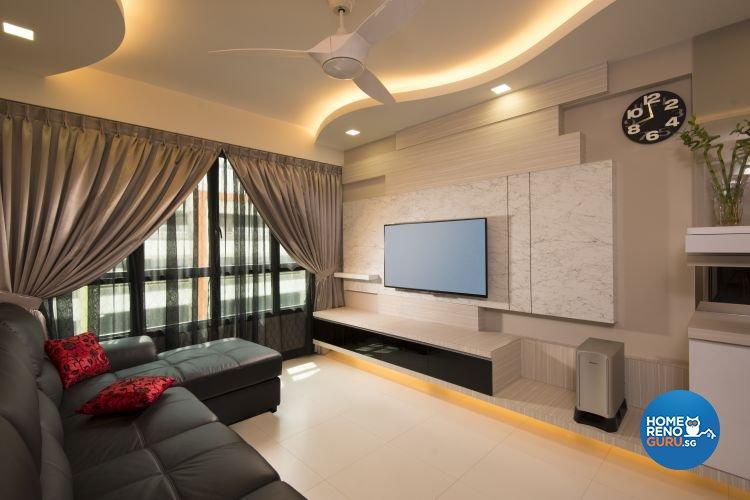 Minimalist, Modern, Rustic Design - Living Room - HDB 4 Room - Design by Y-Axis ID