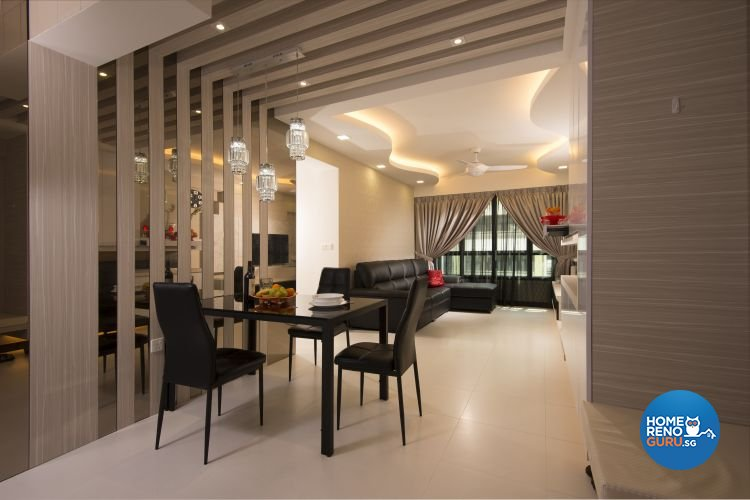Minimalist, Modern, Rustic Design - Dining Room - HDB 4 Room - Design by Y-Axis ID