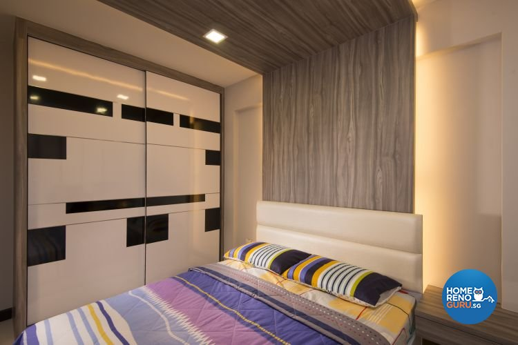 Minimalist, Modern, Rustic Design - Bedroom - HDB 4 Room - Design by Y-Axis ID