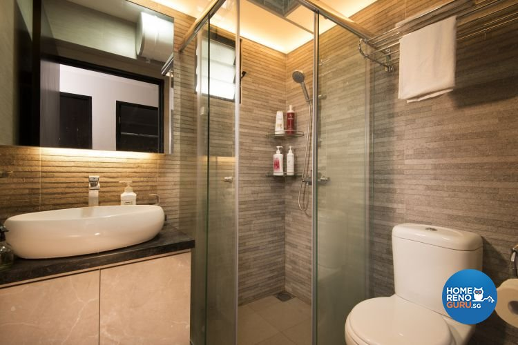 Minimalist, Modern, Rustic Design - Bathroom - HDB 4 Room - Design by Y-Axis ID