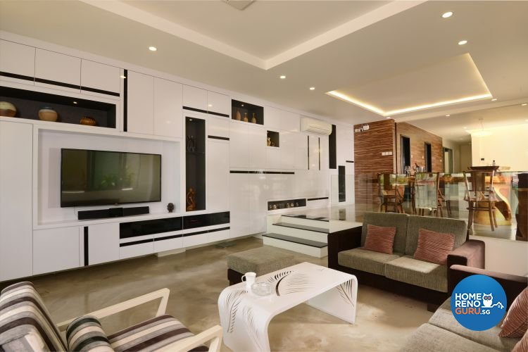 Classical, Contemporary, Modern Design - Living Room - Landed House - Design by Y-Axis ID
