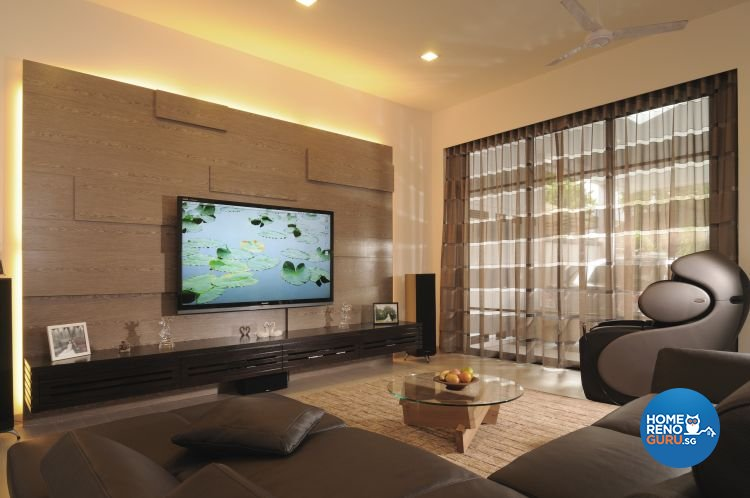 Contemporary, Minimalist, Tropical Design - Living Room - Landed House - Design by Y-Axis ID
