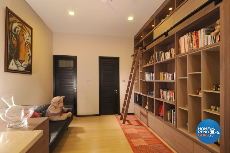 Contemporary, Minimalist, Tropical Design - Study Room - Landed House - Design by Y-Axis ID