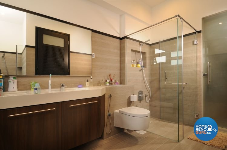 Contemporary, Minimalist, Tropical Design - Bathroom - Landed House - Design by Y-Axis ID