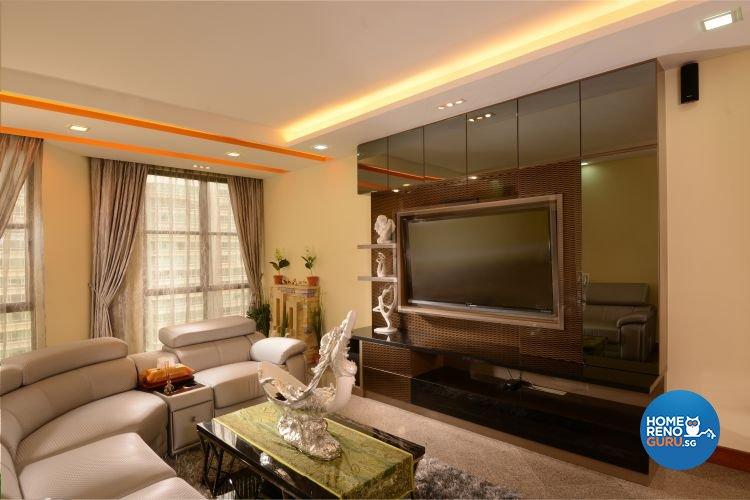 Contemporary, Minimalist Design - Living Room - Condominium - Design by Y-Axis ID