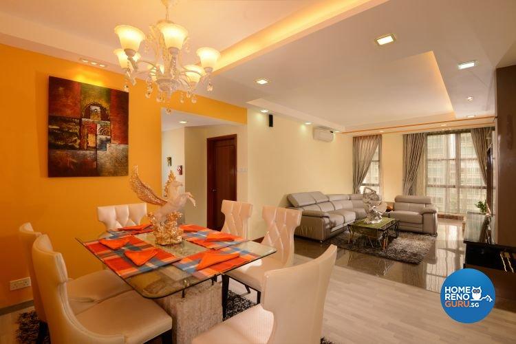 Contemporary, Minimalist Design - Dining Room - Condominium - Design by Y-Axis ID