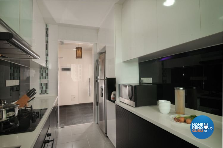 Contemporary, Minimalist, Modern Design - Kitchen - HDB 5 Room - Design by Y-Axis ID