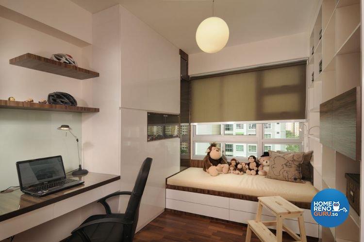 Contemporary, Minimalist, Modern Design - Study Room - HDB 5 Room - Design by Y-Axis ID