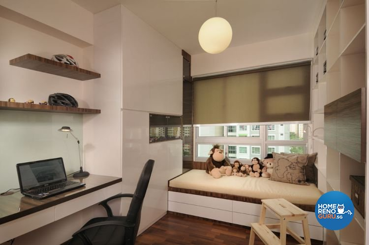Contemporary, Minimalist, Modern Design - Study Room - HDB 5 Room - Design by Y-Axis ID