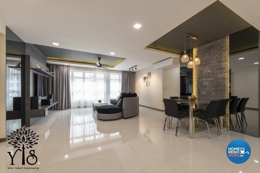 Contemporary, Minimalist, Modern Design - Living Room - HDB 5 Room - Design by YIS Living Pte Ltd
