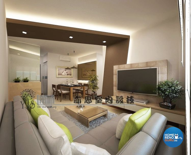 4 room bto renovation package hdb renovation for Living room packages