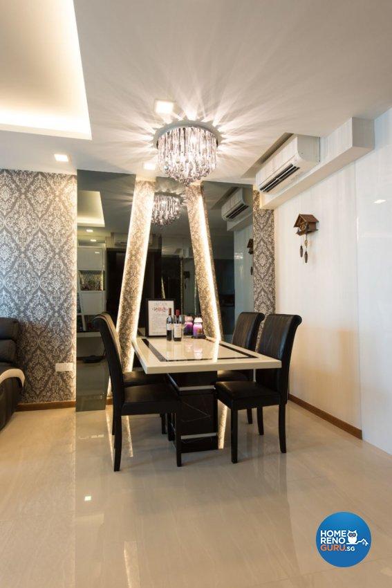 Classical Design - Dining Room - Condominium - Design by Yujia Interior Design Pte Ltd