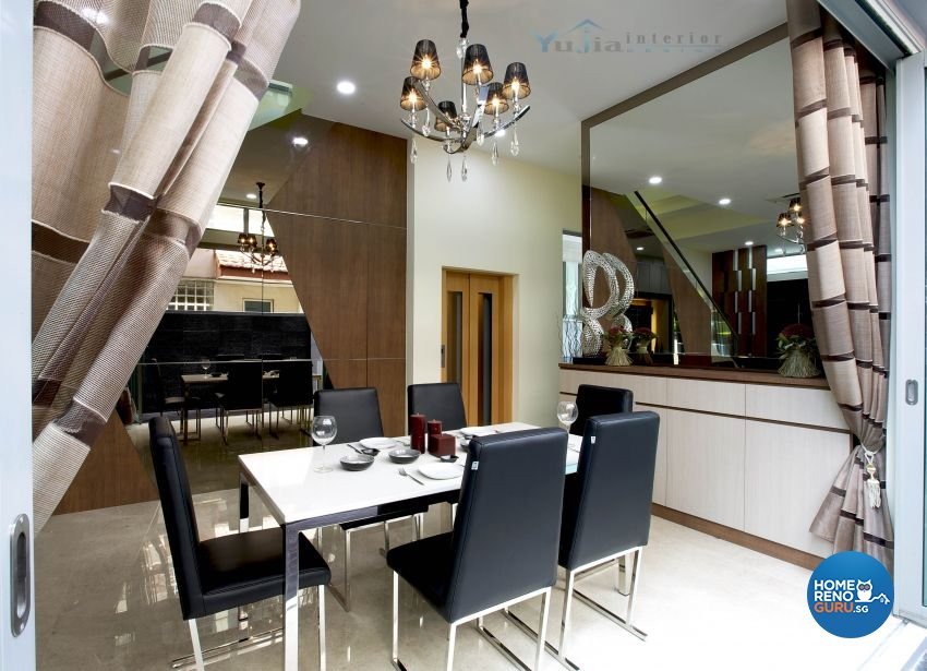 Contemporary Design - Dining Room - Landed House - Design by Yujia Interior Design Pte Ltd