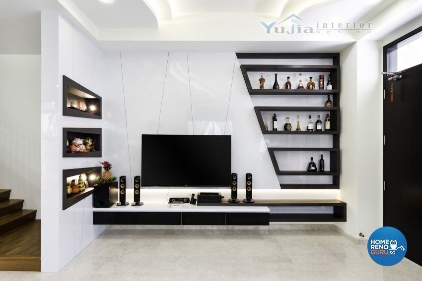 Contemporary Design - Living Room - Landed House - Design by Yujia Interior Design Pte Ltd
