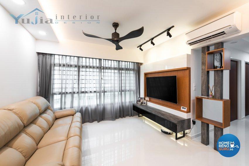 Contemporary Design - Living Room - HDB 4 Room - Design by Yujia Interior Design Pte Ltd