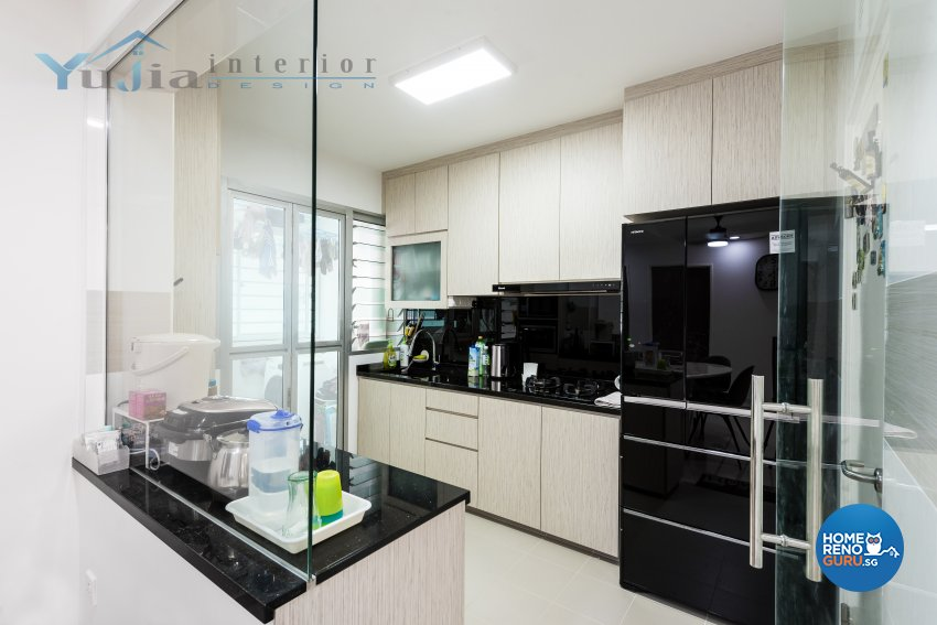 Contemporary Design - Kitchen - HDB 4 Room - Design by Yujia Interior Design Pte Ltd