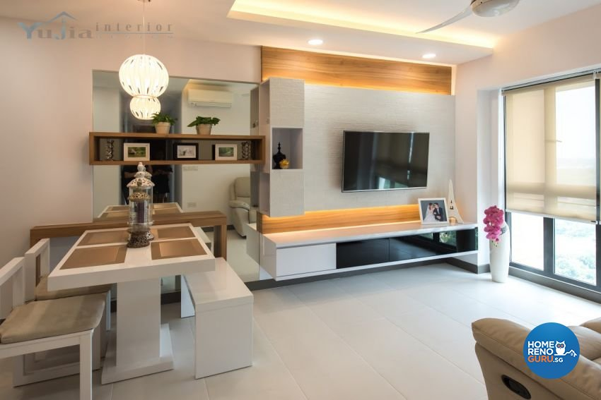Contemporary Design - Living Room - HDB 4 Room - Design by Yujia Interior Design Pte Ltd