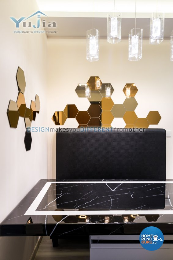 Contemporary Design - Dining Room - HDB 5 Room - Design by Yujia Interior Design Pte Ltd