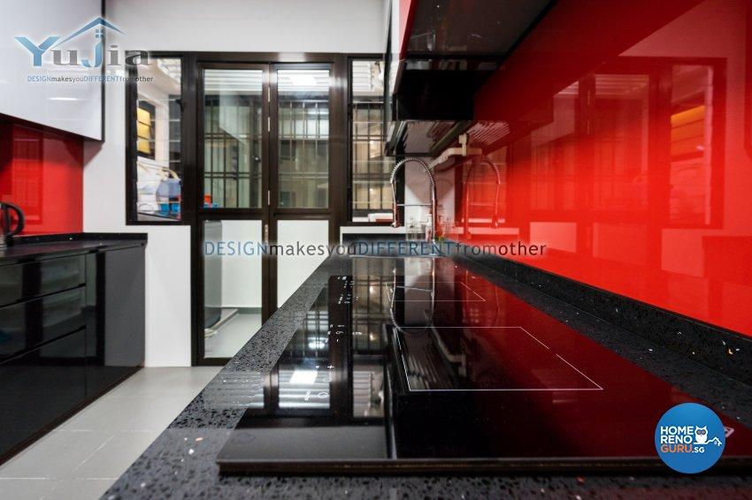Contemporary Design - Kitchen - HDB 5 Room - Design by Yujia Interior Design Pte Ltd