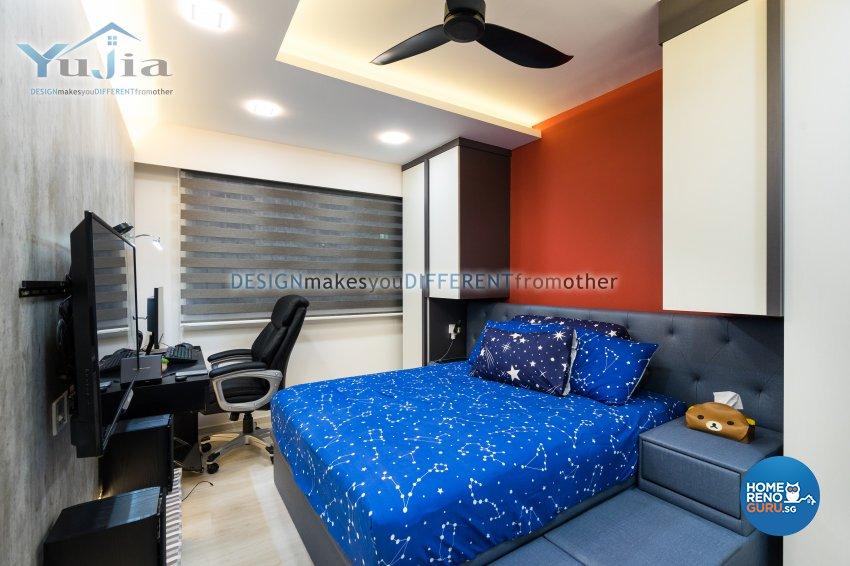 Contemporary Design - Bedroom - HDB 5 Room - Design by Yujia Interior Design Pte Ltd
