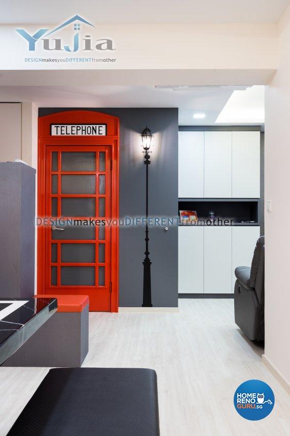 Contemporary Design - Living Room - HDB 5 Room - Design by Yujia Interior Design Pte Ltd