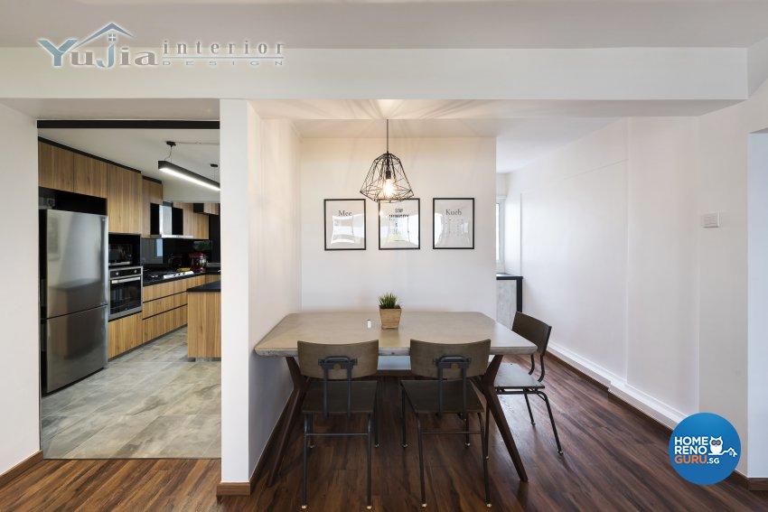 Contemporary Design - Dining Room - HDB 4 Room - Design by Yujia Interior Design Pte Ltd