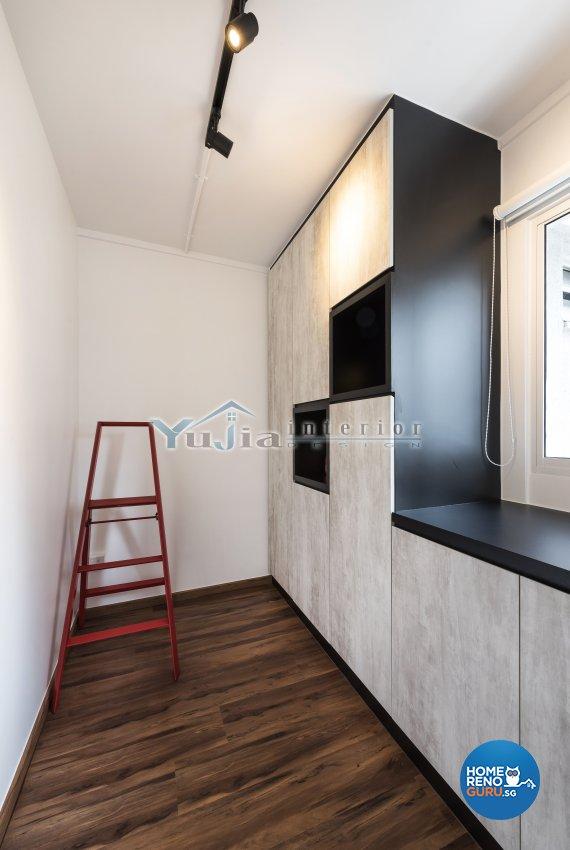 Contemporary Design - Balcony - HDB 4 Room - Design by Yujia Interior Design Pte Ltd