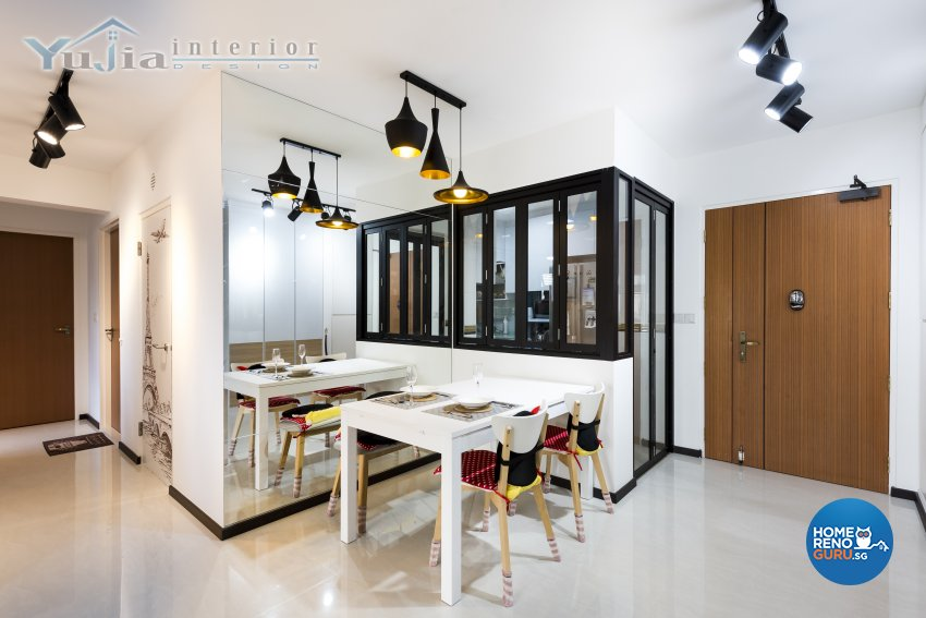 Industrial Design - Dining Room - HDB 4 Room - Design by Yujia Interior Design Pte Ltd