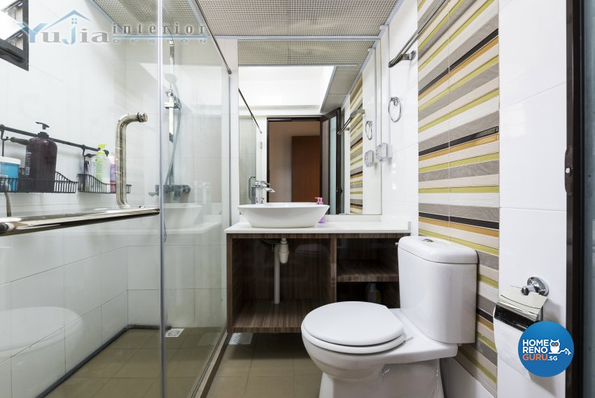 Industrial Design - Bathroom - HDB 4 Room - Design by Yujia Interior Design Pte Ltd
