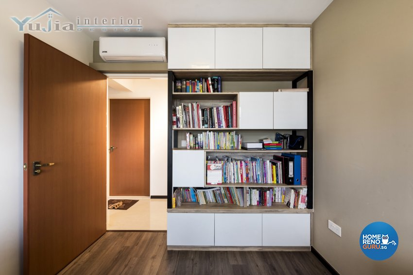 Industrial Design - Study Room - HDB 4 Room - Design by Yujia Interior Design Pte Ltd