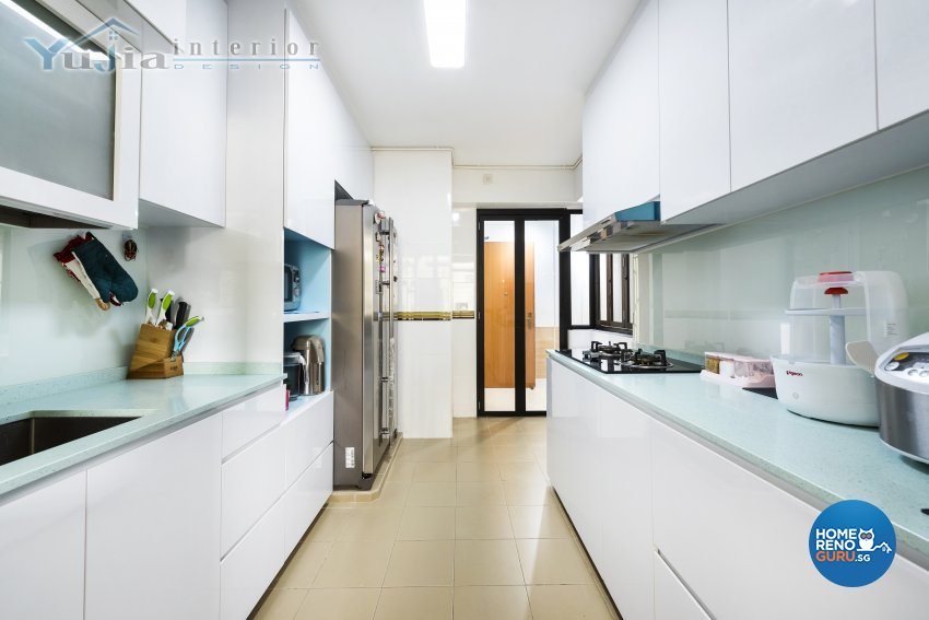 Industrial Design - Kitchen - HDB 4 Room - Design by Yujia Interior Design Pte Ltd