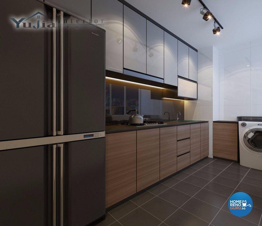 Contemporary Design - Kitchen - HDB 4 Room - Design by Yujia Interior Design Pte Ltd