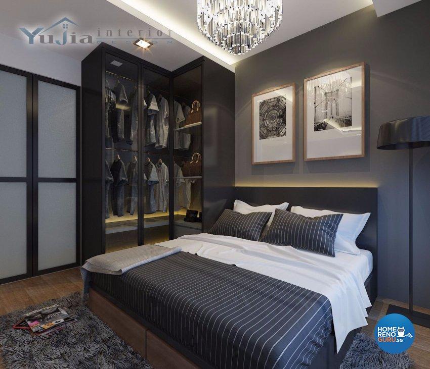 Contemporary Design - Bedroom - HDB 4 Room - Design by Yujia Interior Design Pte Ltd