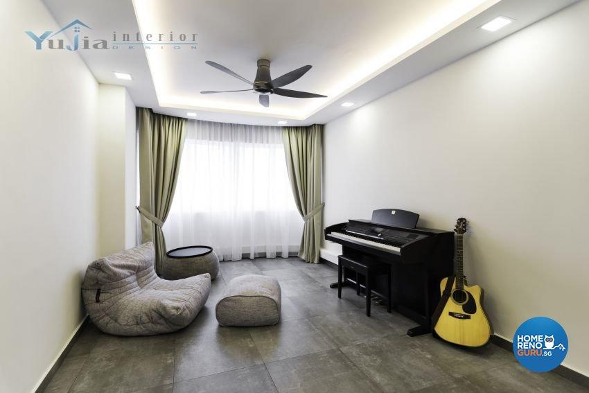 Industrial Design - Entertainment Room - HDB 5 Room - Design by Yujia Interior Design Pte Ltd