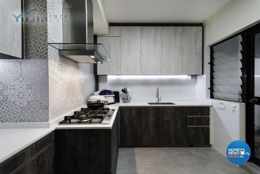 Industrial Design - Kitchen - HDB 5 Room - Design by Yujia Interior Design Pte Ltd