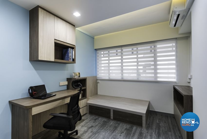 Industrial Design - Bedroom - HDB 5 Room - Design by Yujia Interior Design Pte Ltd