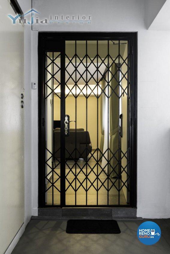 Industrial Design - Balcony - HDB 5 Room - Design by Yujia Interior Design Pte Ltd