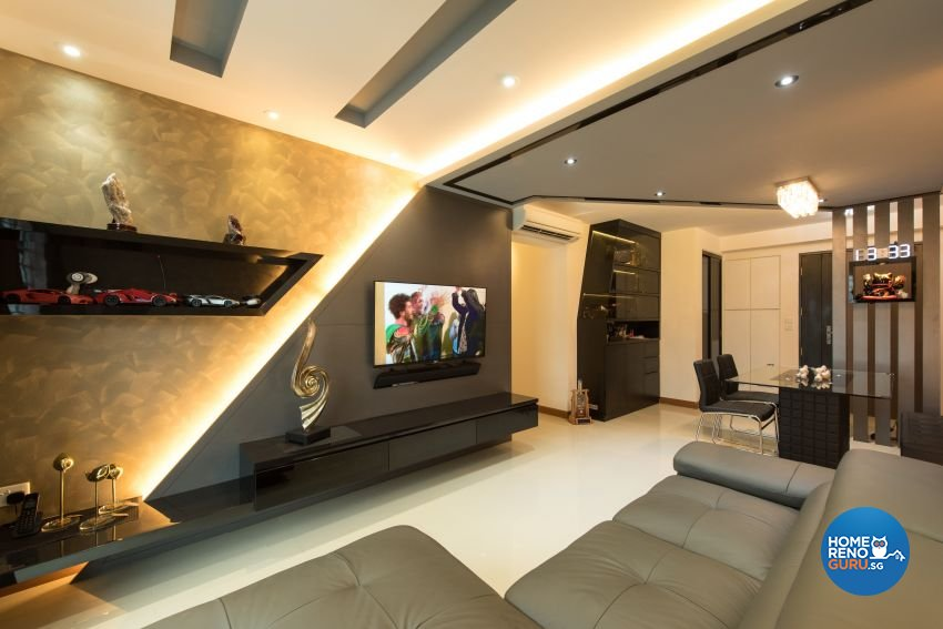 Classical Design - Living Room - HDB 4 Room - Design by Yujia Interior Design Pte Ltd