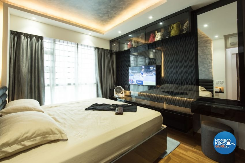Classical Design - Bedroom - HDB 4 Room - Design by Yujia Interior Design Pte Ltd