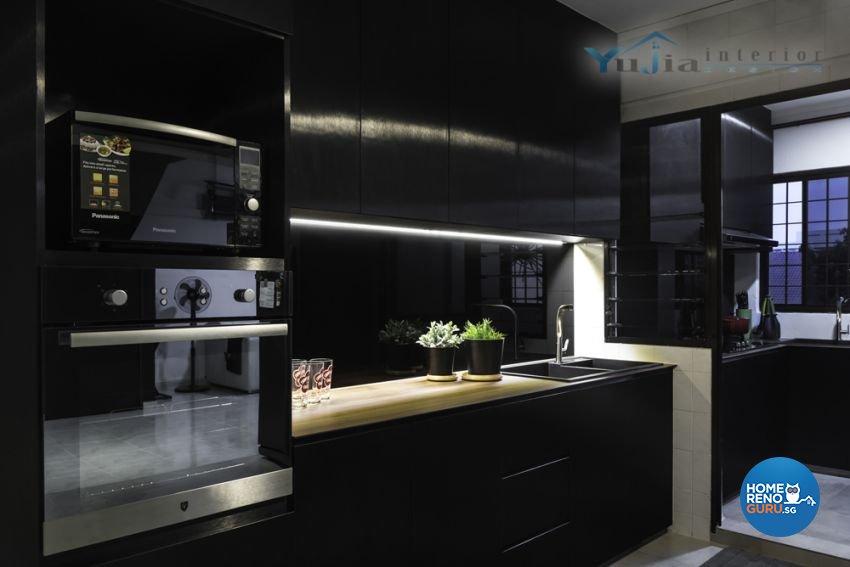 Contemporary Design - Kitchen - HDB Executive Apartment - Design by Yujia Interior Design Pte Ltd