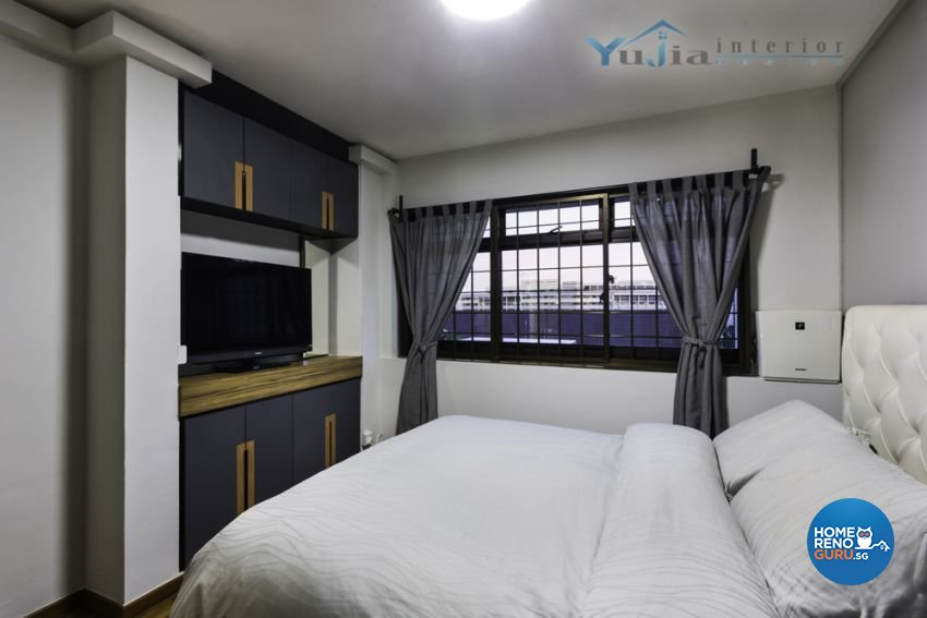 Contemporary Design - Bedroom - HDB Executive Apartment - Design by Yujia Interior Design Pte Ltd