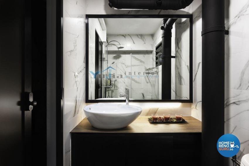 Contemporary Design - Bathroom - HDB Executive Apartment - Design by Yujia Interior Design Pte Ltd