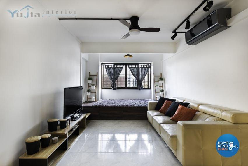 Contemporary Design - Living Room - HDB Executive Apartment - Design by Yujia Interior Design Pte Ltd