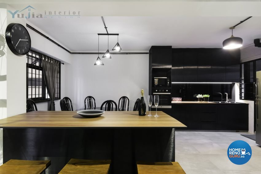Contemporary Design - Dining Room - HDB Executive Apartment - Design by Yujia Interior Design Pte Ltd