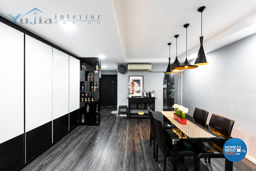 Contemporary Design - Dining Room - HDB 5 Room - Design by Yujia Interior Design Pte Ltd