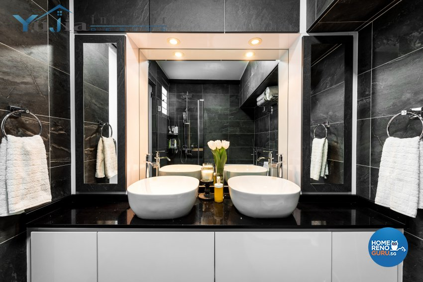 Contemporary Design - Bathroom - HDB 5 Room - Design by Yujia Interior Design Pte Ltd