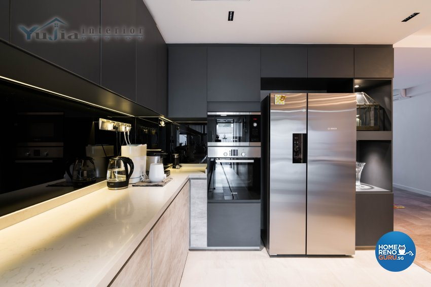 Contemporary Design - Kitchen - Landed House - Design by Yujia Interior Design Pte Ltd
