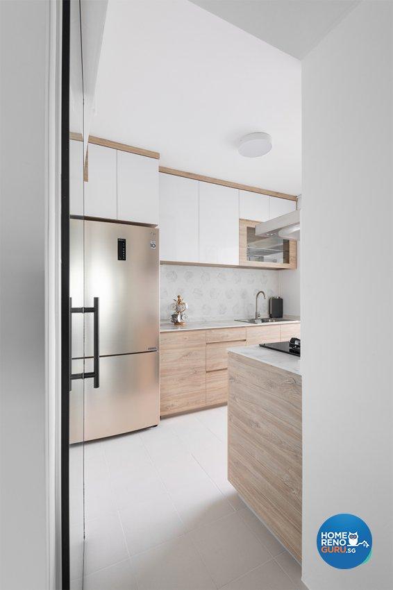 Contemporary, Scandinavian Design - Kitchen - HDB 3 Room - Design by Zenith Arc Pte Ltd