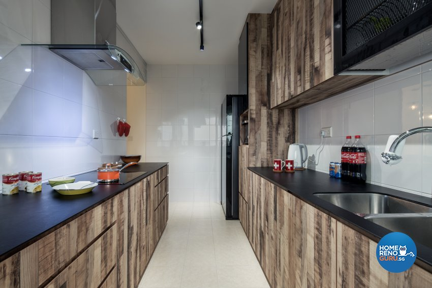 Industrial, Others, Scandinavian Design - Kitchen - HDB 4 Room - Design by Zenith Arc Pte Ltd